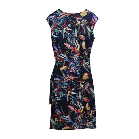 Zapara Floral Cross Over Warp Dress