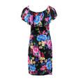 Zapara Dark Floral Bardot Inspired Dress
