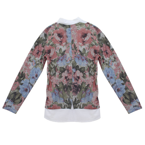 Twist 2 in 1 Fine Floral Print Knit