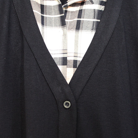 Twist 2 in 1 Check Shirt Cardi