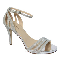 Pacomena Silver Ankle Strap Shoe