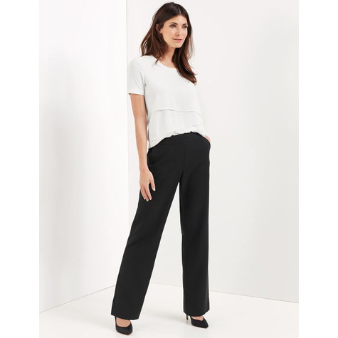 Gerry Weber BLACK TROUSERS WITH A WIDE LEG