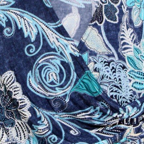 Zapara Paisley Floral Design Top