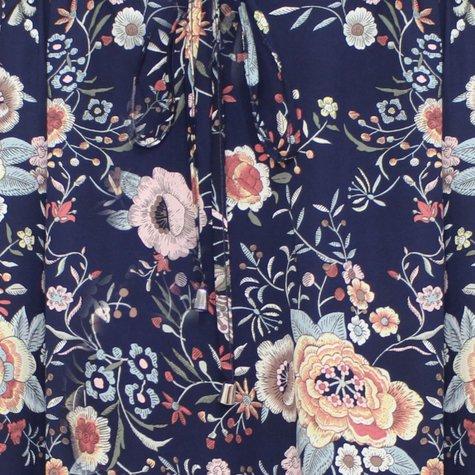 Zapara Oriental 1970's Style Print Top