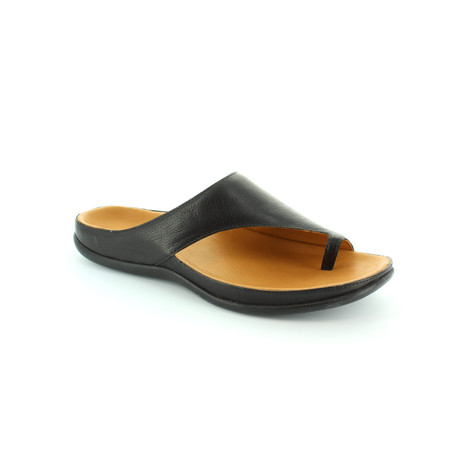 Strive Black Leather Upper & Insole Sandal