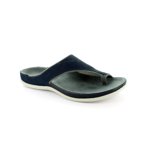Strive Navy Leather Upper & Insole Sandal