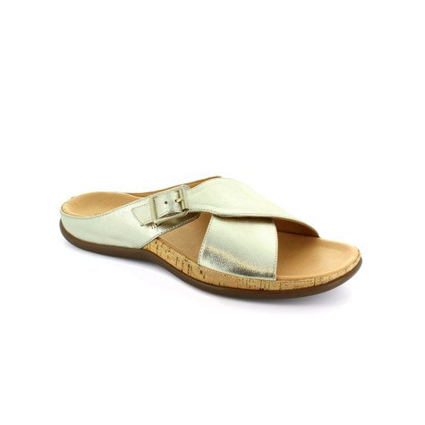Strive Gold Leather Upper & Insole Sandal