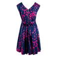 Closet Navy Butterfly Print Belted Dress