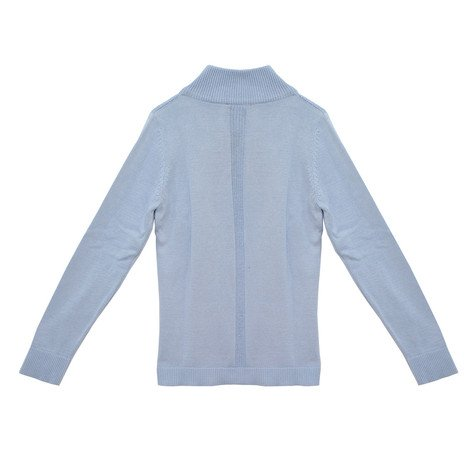 Twist Sky Blue Zip Knit