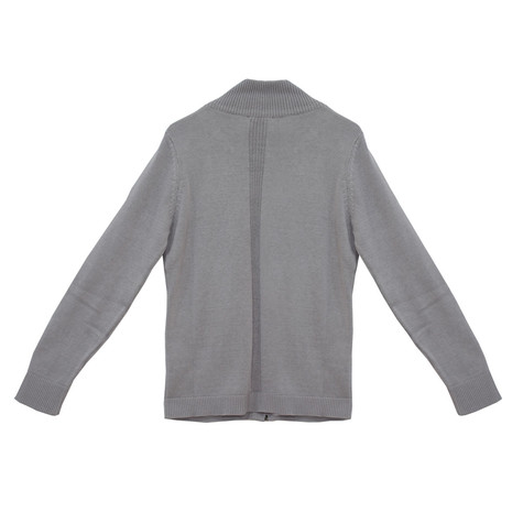 Twist Grey Zip Up Knit