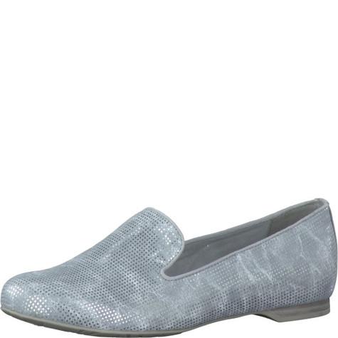 marco tozzi silver slipper style flat pump pamela scott. Black Bedroom Furniture Sets. Home Design Ideas