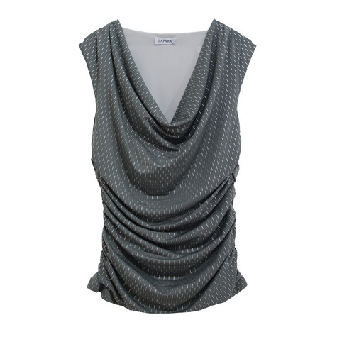 Zapara Soft Cowl Neck Top