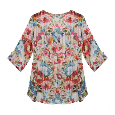 SophieB Floral Print Light Open Top