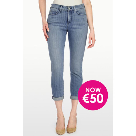 NYDJ ROLL CUFF ANKLE IN STRIPED DENIM - Was €149.99 NOW €50