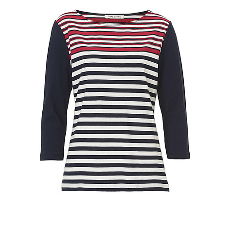 Betty Barclay Red, Navy & Cream Knit