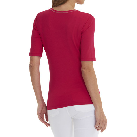 Betty Barclay Red Decorative Edging Top