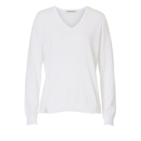 Betty Barclay White V-Neck Knit