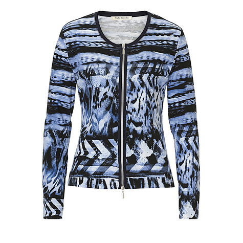 Betty Barclay Blue Patterned Knit Jacket