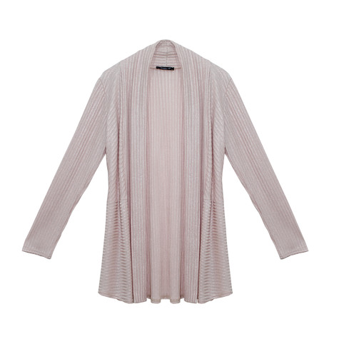 SophieB Pink Easy Drape Metallic Knit