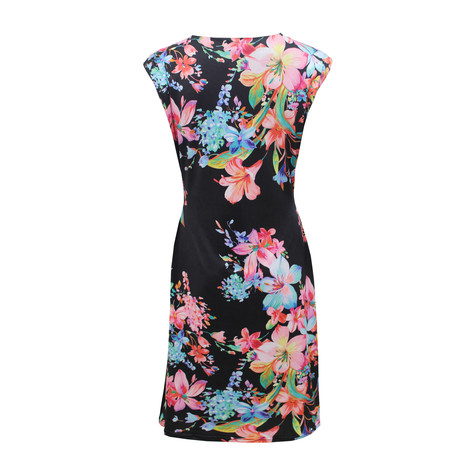 Zapara Tropical Garden Print Dress