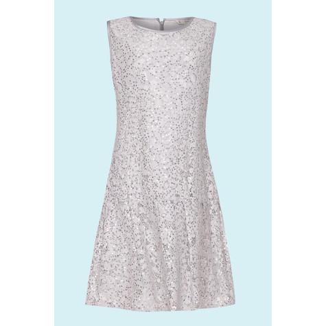 Yumi Girls Grey Drop Waist Lace Dress