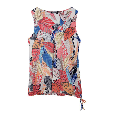 SophieB Yellow & Pink Floral Sleeveless Top