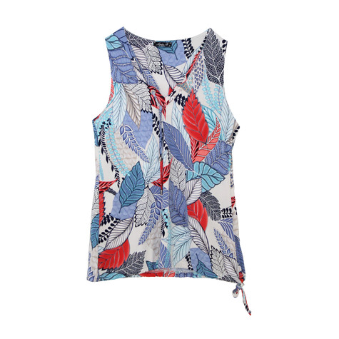 SophieB Blue & Navy Floral Print Sleeveless Top