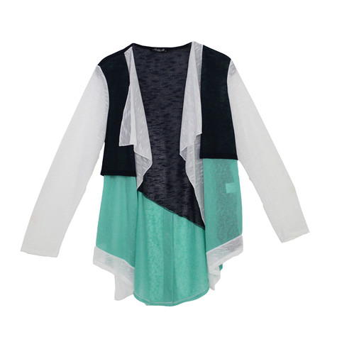 SophieB Navy & Green Light Knit
