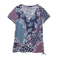 SophieB Navy & Red Paisley Print Top