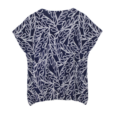 SophieB Navy & White Floral Pattern Top