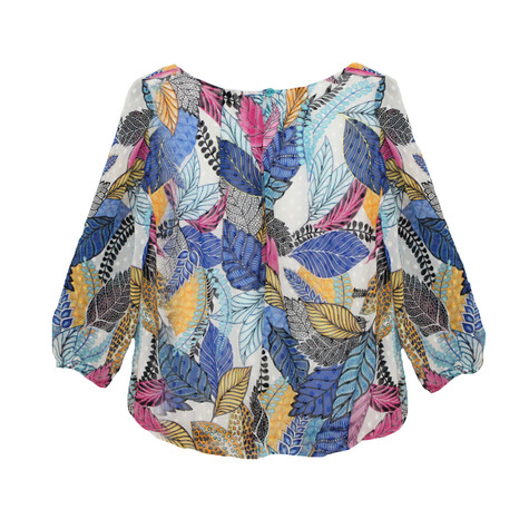 SophieB Blue Summer Floral Print Top
