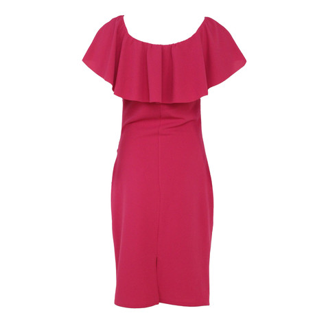Zapara Pink Bardot Neckline Dress