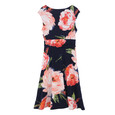 Ronni Nicole Navy & Coral Floral Wrap Dress - NOW €45 -