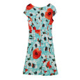 Ronni Nicole Mint Floral Print Round Neck Dress