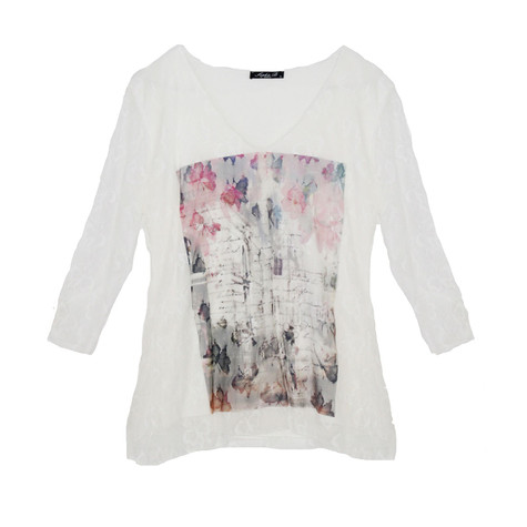 SophieB Butterfly Lace Detail Top