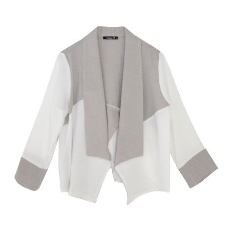 SophieB Colour Block Asymmetrical Linen Jacket
