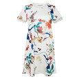 Zapara White Floral Pattern Dress