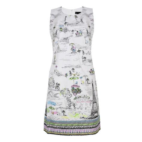 Chetta B Paris Themed Boat Print Dress