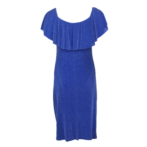 Zapara Royal Blue Bardot Neckline Dress