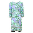 London Times Mint Floral Print Dress