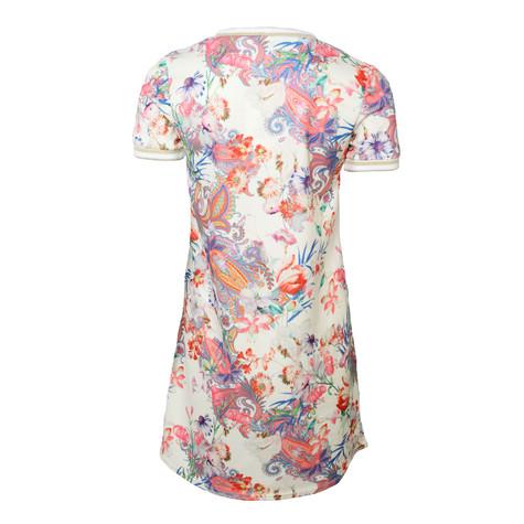 Zapara Cream Floral & Paisley Print Dress