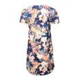 Zapara Navy Floral & Paisley Pattern Print Dress
