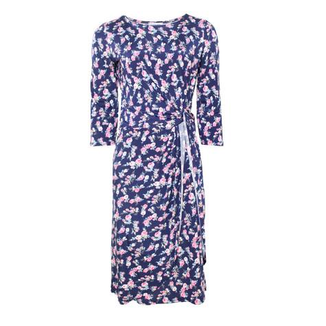 Zapara Navy Pink Floral Dress