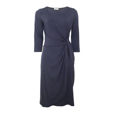 Zapara Navy Wrap Waist Dress