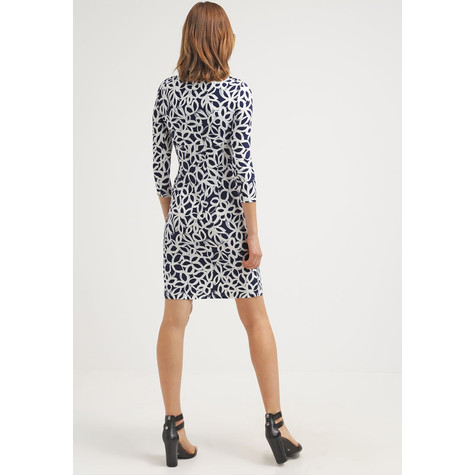Lauren by Ralph Lauren Paisley Cream & Navy Pattern Dress
