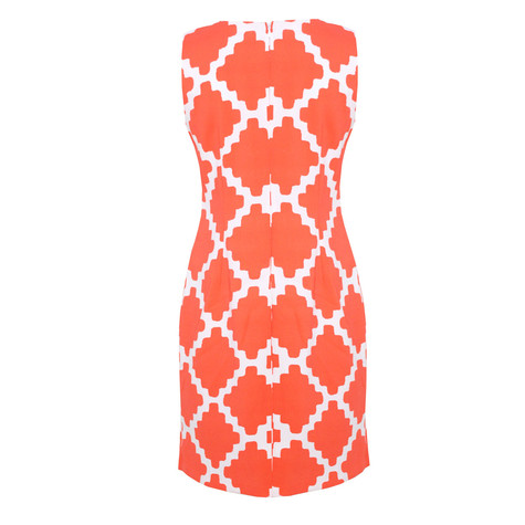 Ronni Nicole Orange & White Sleeveless Dress - NOW €45 -
