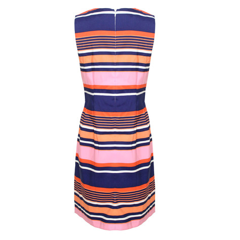 Ronni Nicole Navy & Coral Stripe Dress - NOW €45 -