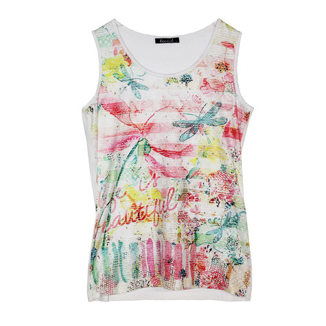 SophieB Sleeveless Multi Colour Top