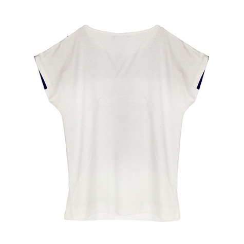 SophieB Blue & White Digital Print Top