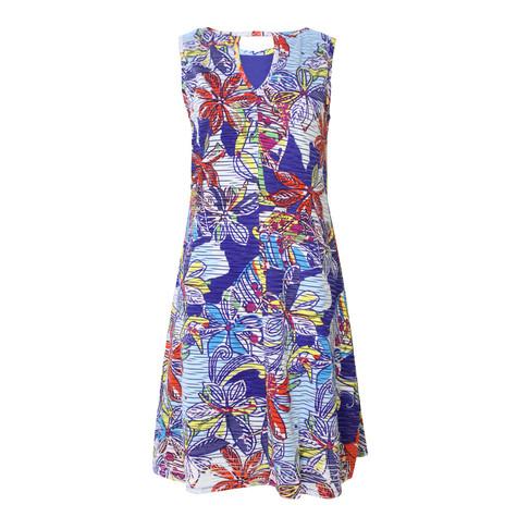 Ronni Nicole Blue & White Floral Sleeveless Dress - NOW 45 EURO